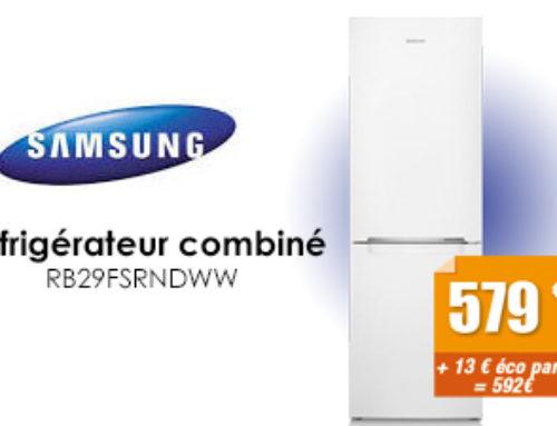 Offre du mois : réfrigérateur Samsung à 579€*